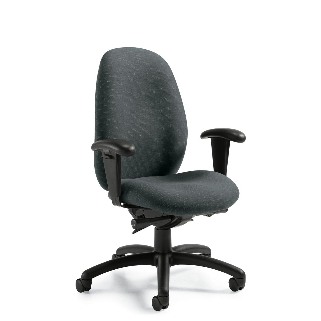 Malaga high back synchro-tilter chair, model 3140-0. This chair has been placed on a white background.