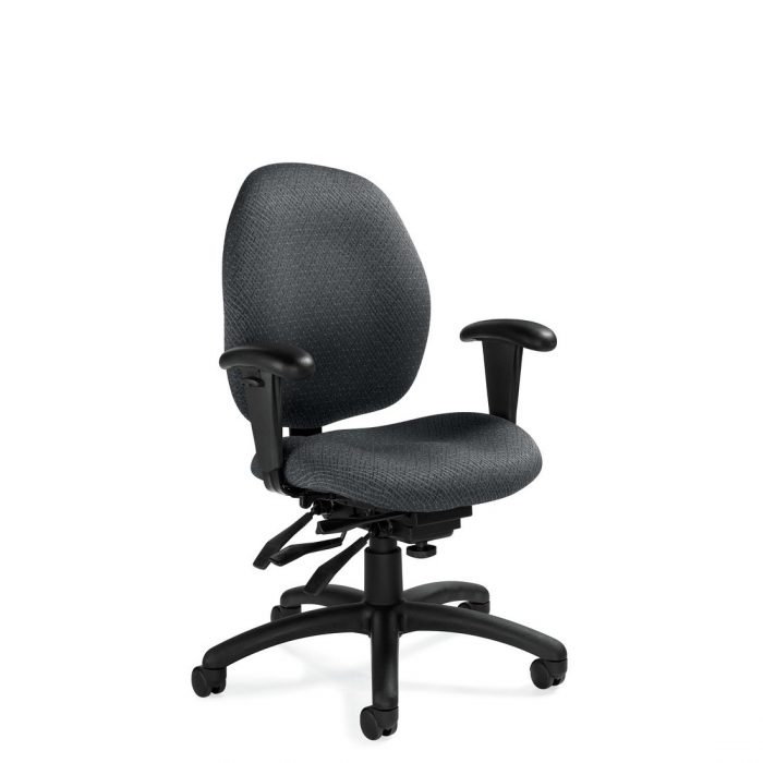 Malaga low back multi-tilter chair, model 3141-3. This chair has been placed on a white background.