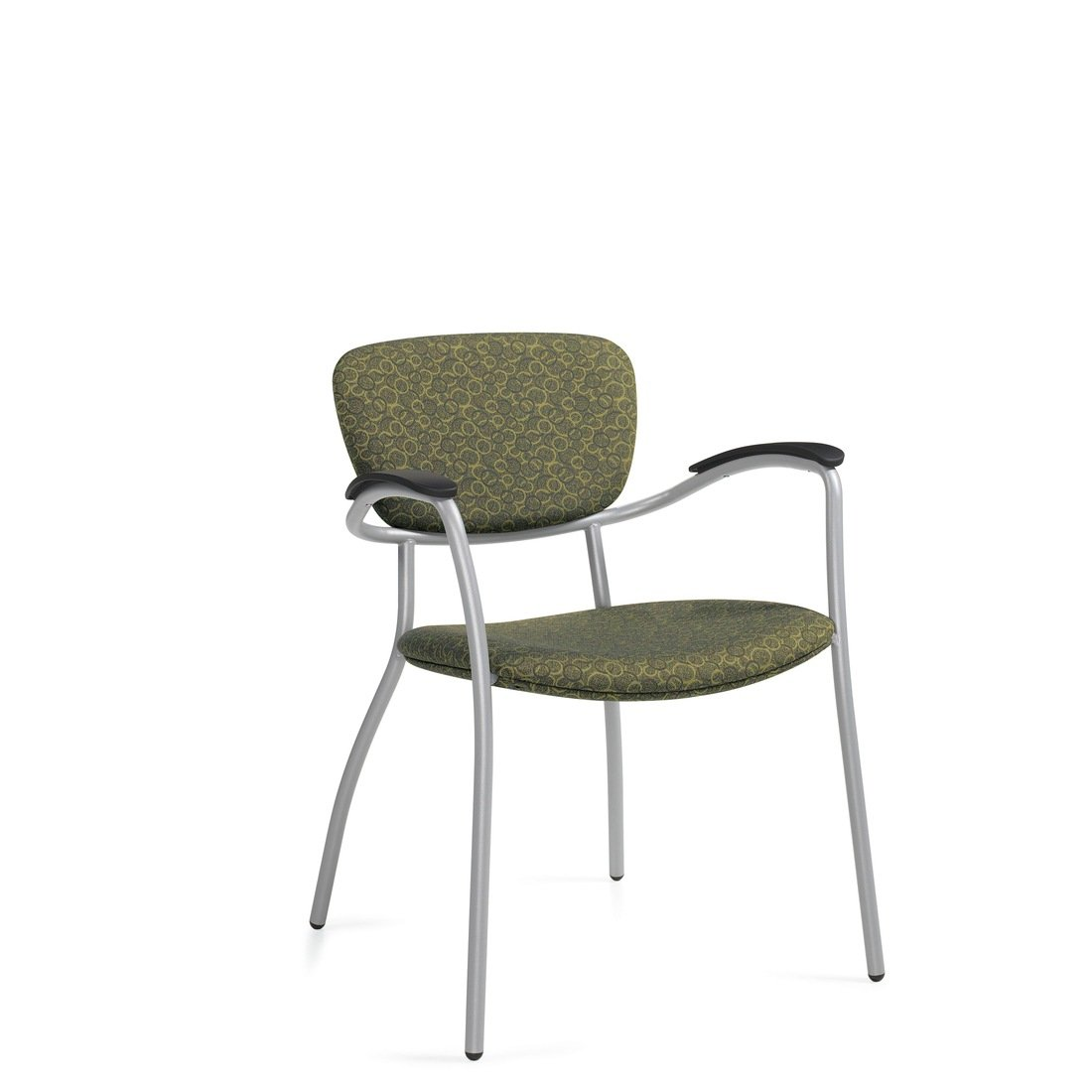 Caprice guest chair with arms, model 3365. This chair has been placed on a white background.