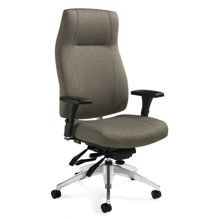 Triumph high back multi-tilter chair, model 3650-3. This chair has been placed on a white background.