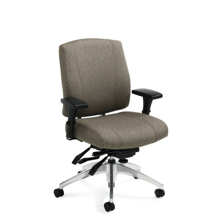Triumph medium back multi-tilter chair, model 3651-3. This chair has been placed on a white background.