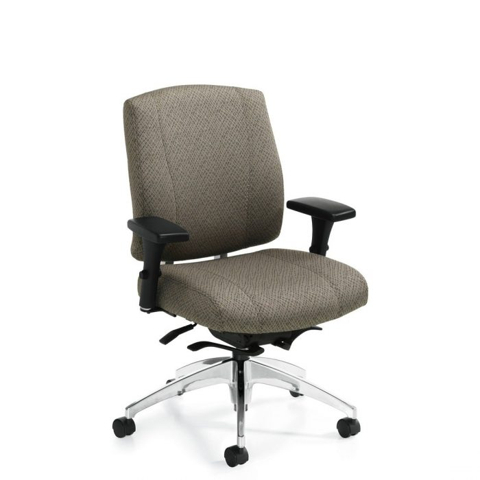 Triumph medium back weight sensing Synchro-tilter chair, model 3651-8. This chair has been placed on a white background.