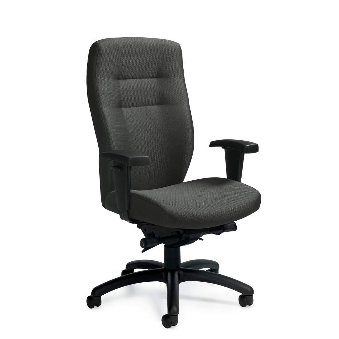 Synopsis high back synchro-tilter chair, model 5080-0. This chair has been placed on a white background.