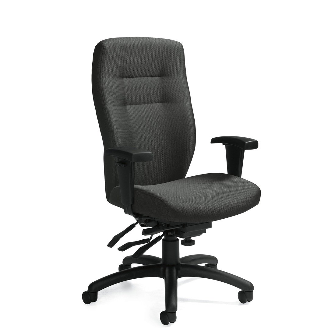 Synopsis high back multi-tilter chair, model 5080-3. This chair has been placed on a white background.