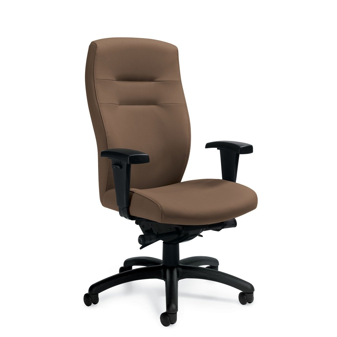 Synopsis high back synchro-tilter chair, model 5080LM-0. This chair has been placed on a white background.