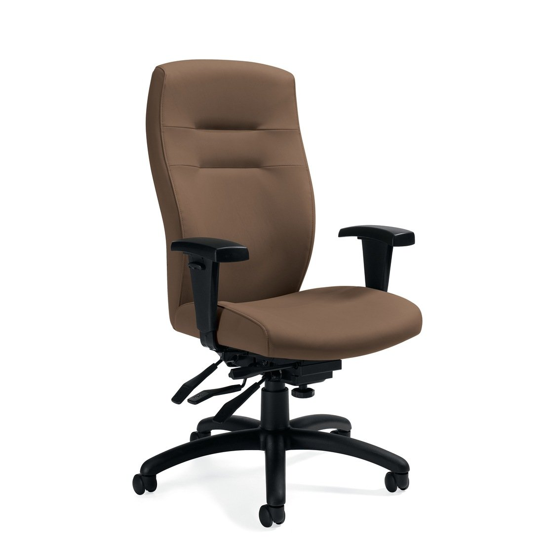 Synopsis high back multi-tilter chair, model 5080LM-3. This chair has been placed on a white background.