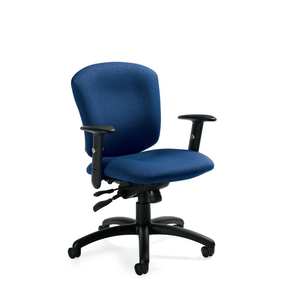 Supra X medium back synchro-tilter chair, model 5336-1. This chair has been placed on a white background.