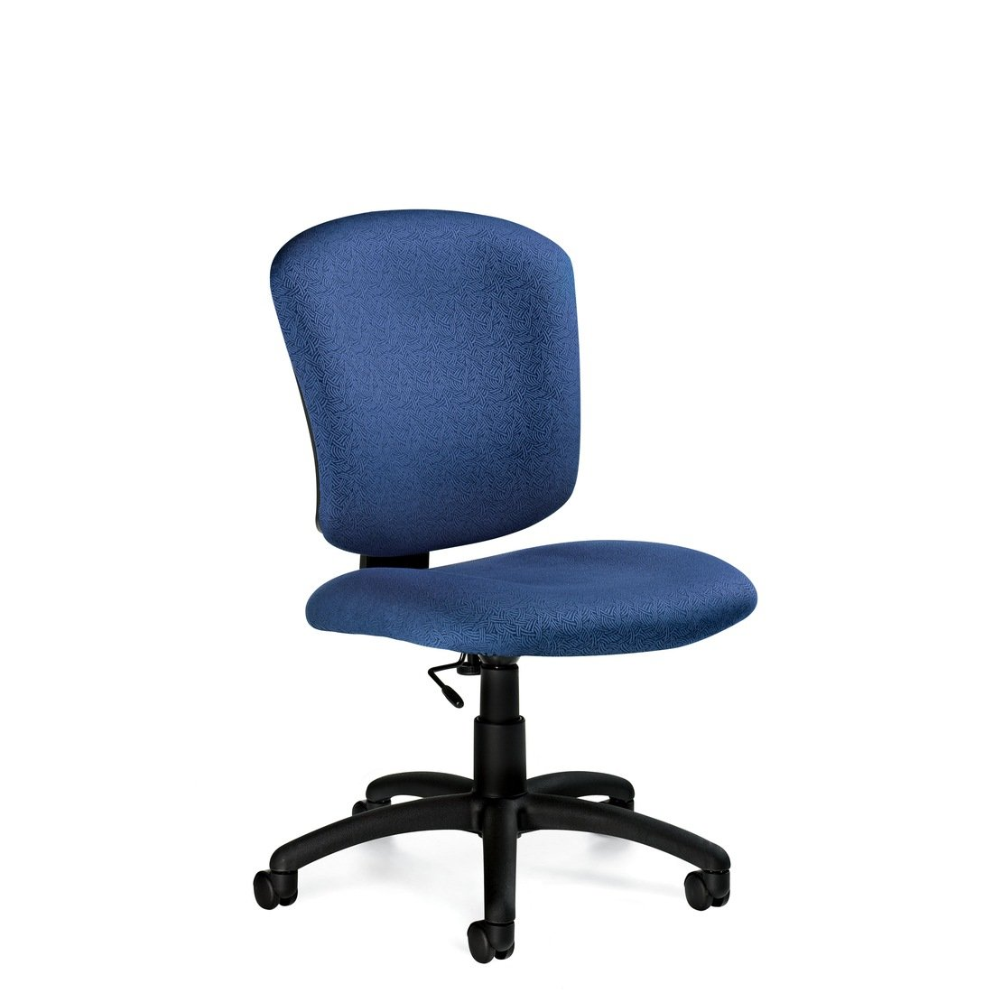 Supra X back medium back armless task chair, model 5337-6. This chair has been placed on a white background.