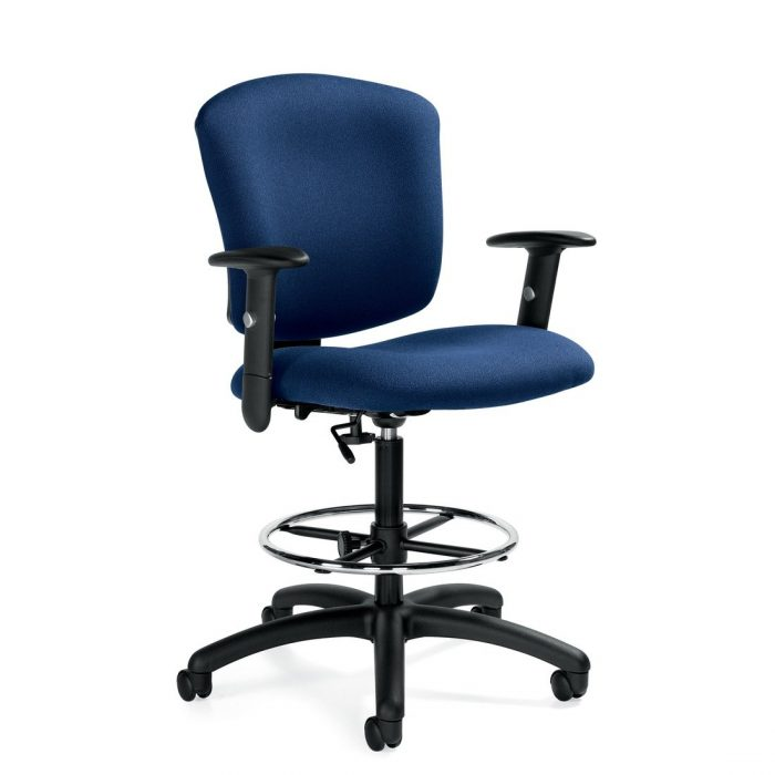 Supra X medium back task stool, model 5338-6. This chair has been placed on a white background.