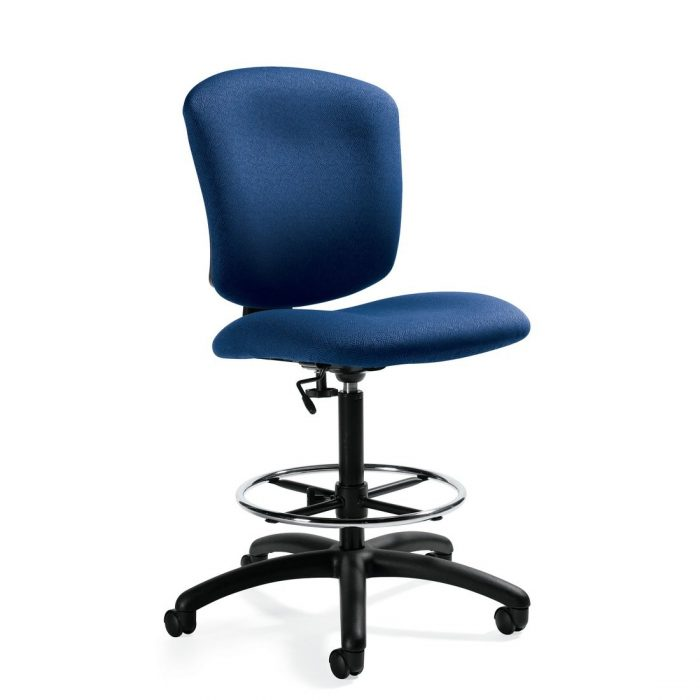 Supra X medium back armless task stool, model 5339-6. This chair has been placed on a white background.