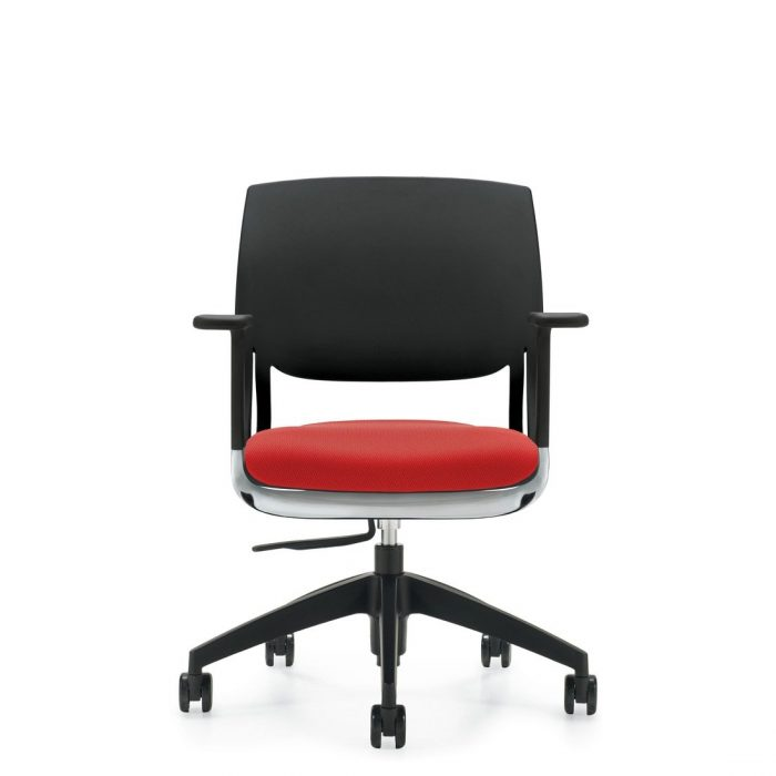 Novella task chair with upholstered seat and polypropylene back. The model 6400 chair has been placed on a white background.