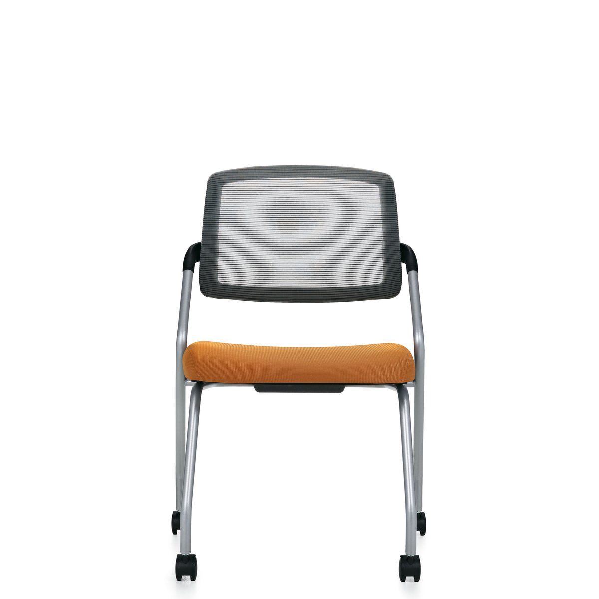 Spritz flip seat nesting chair, model 6764C. This chair has been placed on a white background.