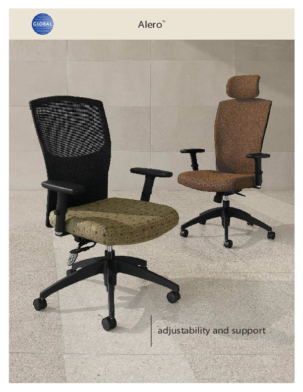 Thumbnail for the 2012 brochure, with Alero office chairs.