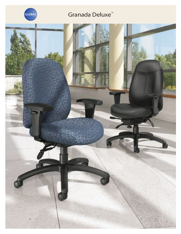 Thumbnail for the 2016 brochure, with Granada Deluxe office chairs.