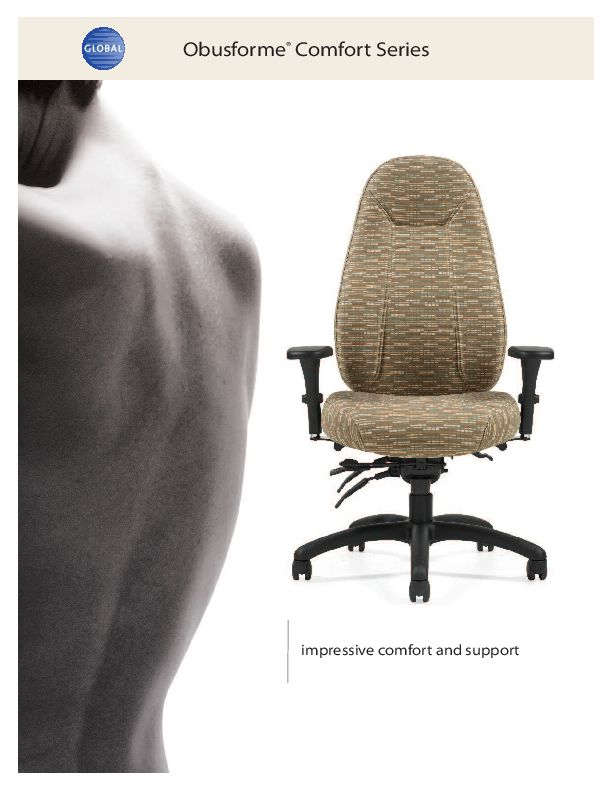Thumbnail for the 2014 brochure, with Obus Comfortforme office chairs.