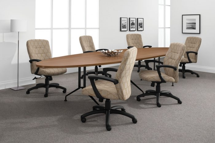 Synopsis chairs at a long oval conference table | Collaborative Office Interiors