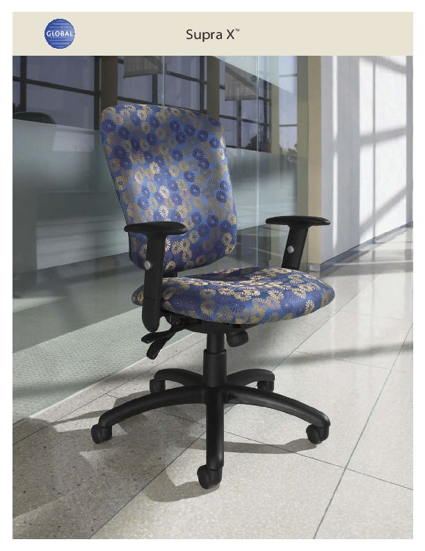 Thumbnail for the 2013 brochure, with Supra X office chairs.