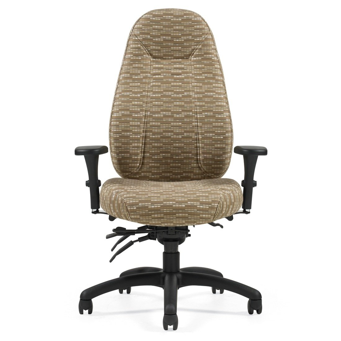 Obusforme Comfort high back heavy duty multi-tilter chair, model TS1240-3. This chair has been placed on a white background.