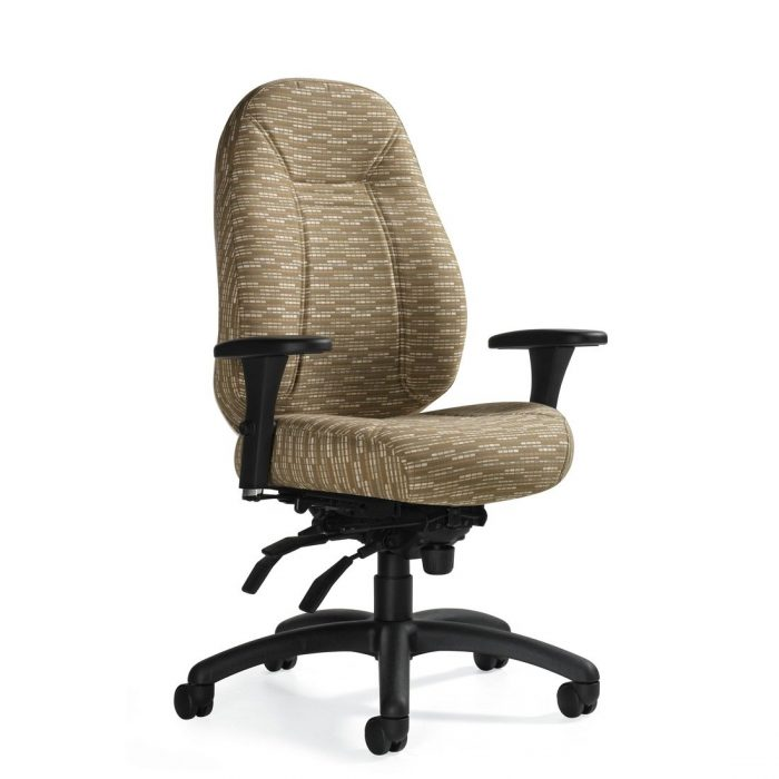 Obusforme Comfort medium back heavy duty multi-tilter chair, model TS1241-3. This chair has been placed on a white background.