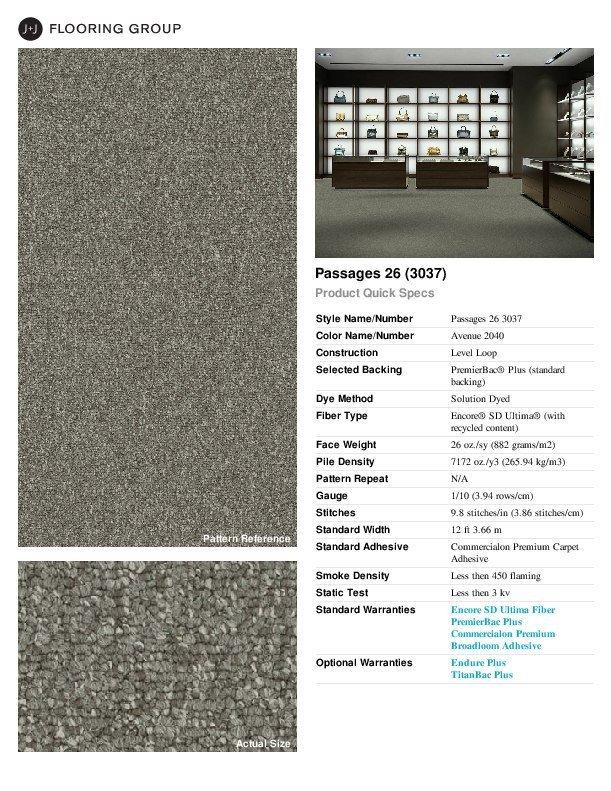 Thumbnail for Passages 26 spec sheet.