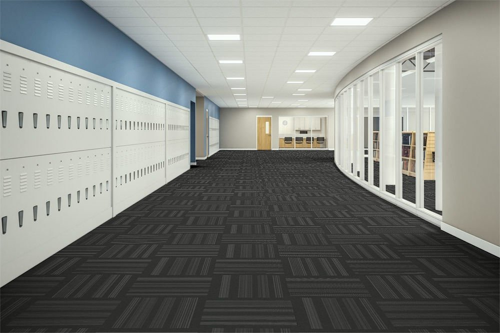 Velocity Flooring - Education Corridor in Move | Collaborative Office Interiors