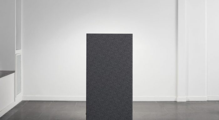 Studio shot of a single dB privacy panel, in a dark grey.