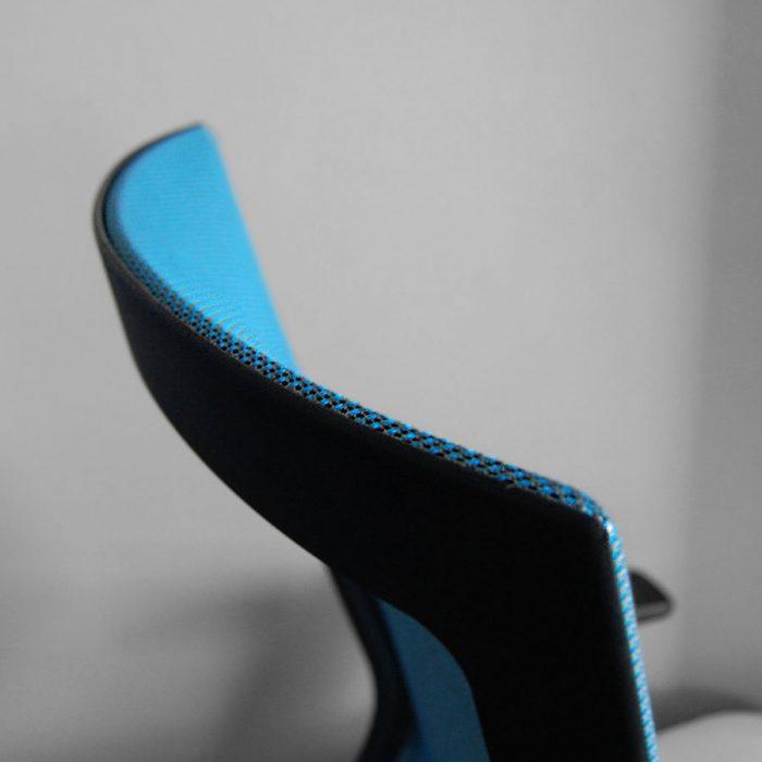 RunII Blue Mesh Back Closeup - Modern Office Furniture