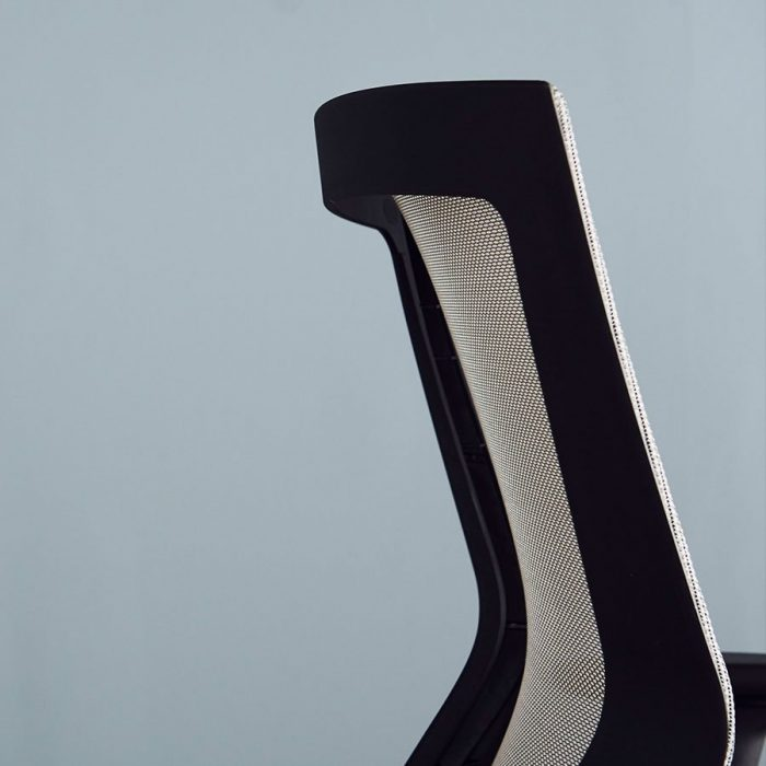 Close-up showing the quality grey mesh of a Run II office chair.