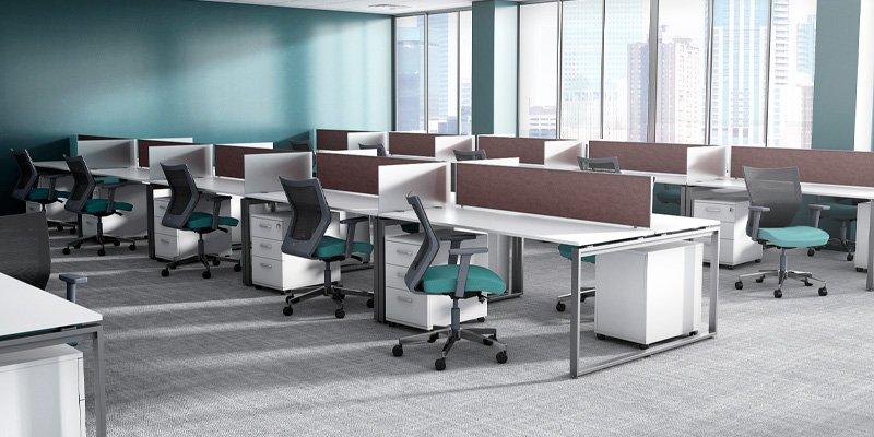 Run II mid-back office chair - Modern business office furniture