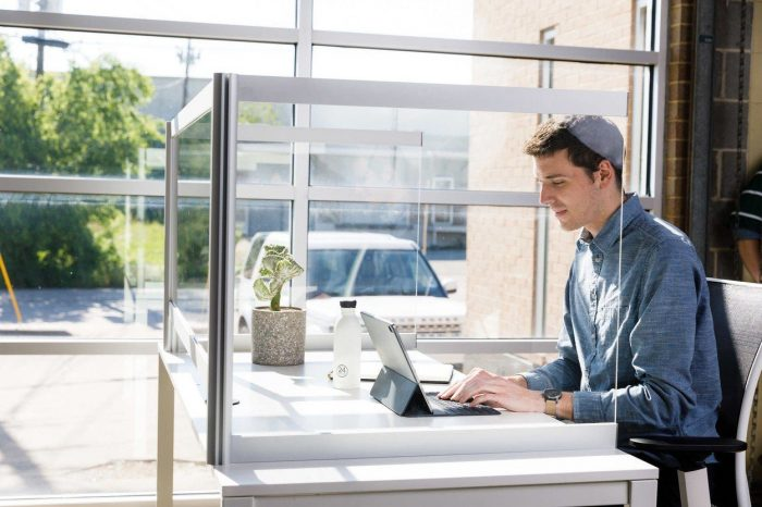 Desk Shield Desktop Acrylic Protection   Collaborative Office Interiors