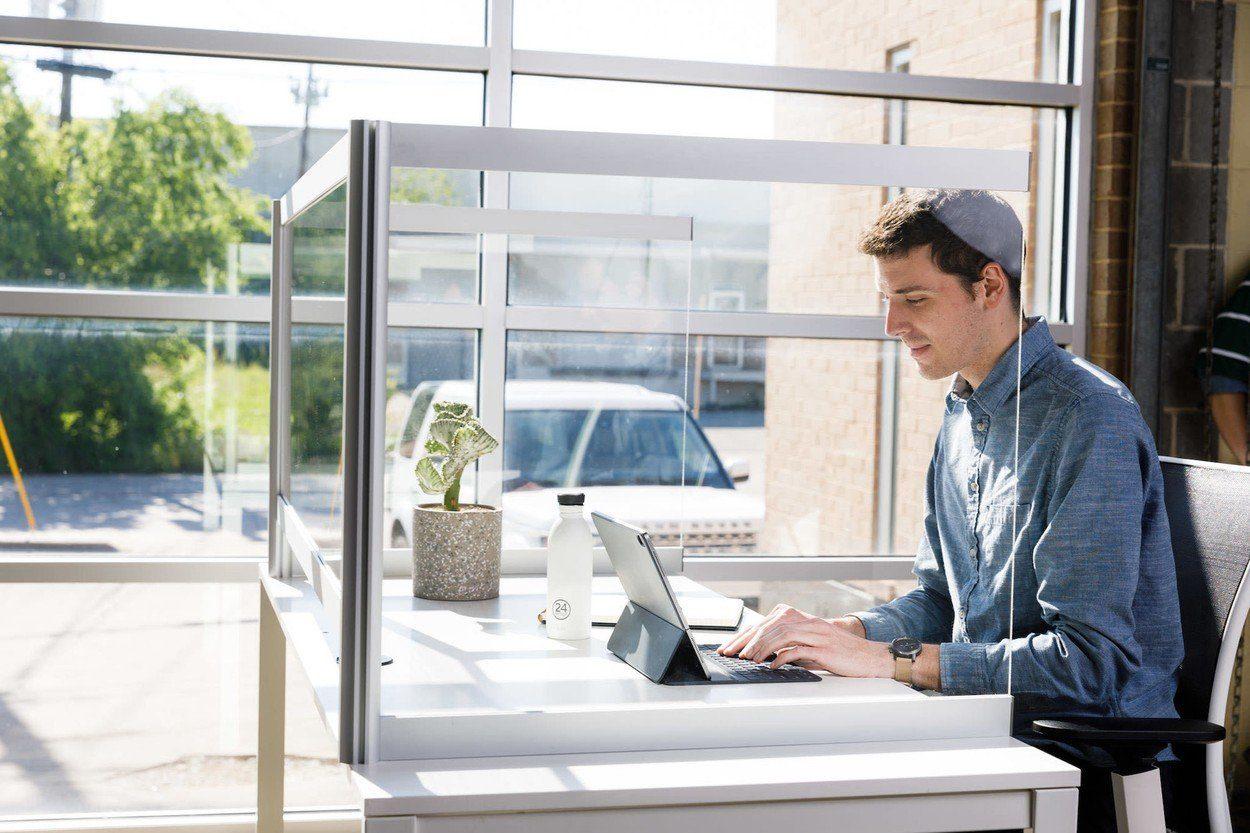 Desk Shield Desktop Acrylic Protection | Collaborative Office Interiors