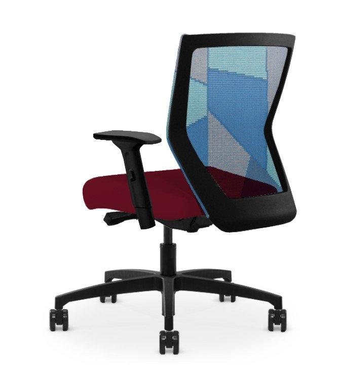 Run II High Back Black Frame Office Chair with Synchro Control