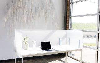Shelter Acrylic Desktop Panels | Collaborative Office Interiors