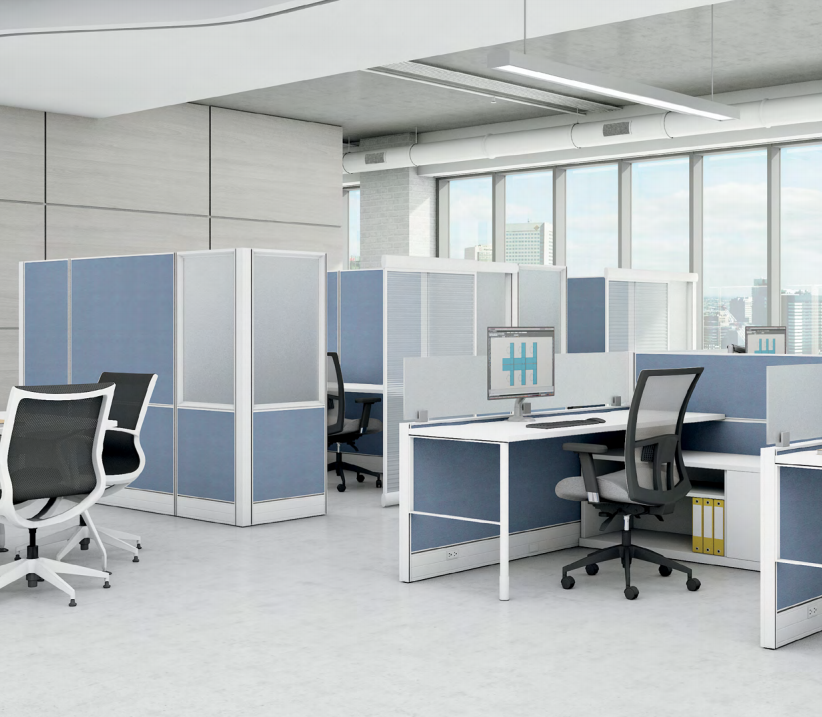66 inch high modern office cubicles