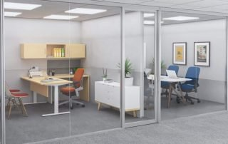 Glass Office Walls - Office Furniture Houston