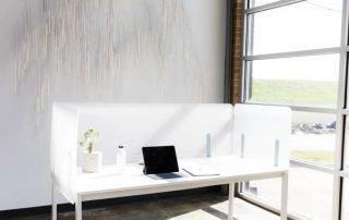 Shelter Acrylic Back Side Panel - Office Furniture Houston
